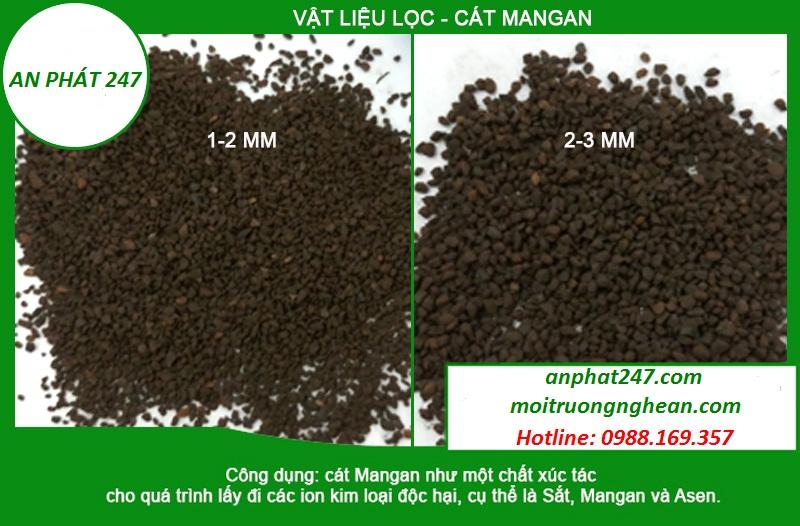Cát mangan khử phèn