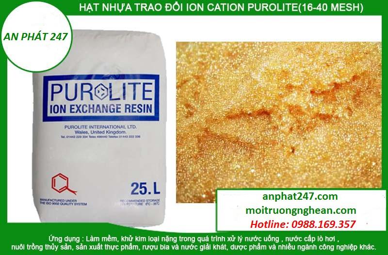 Hạt nhựa Anion PUROLITE (16-40 mesh)