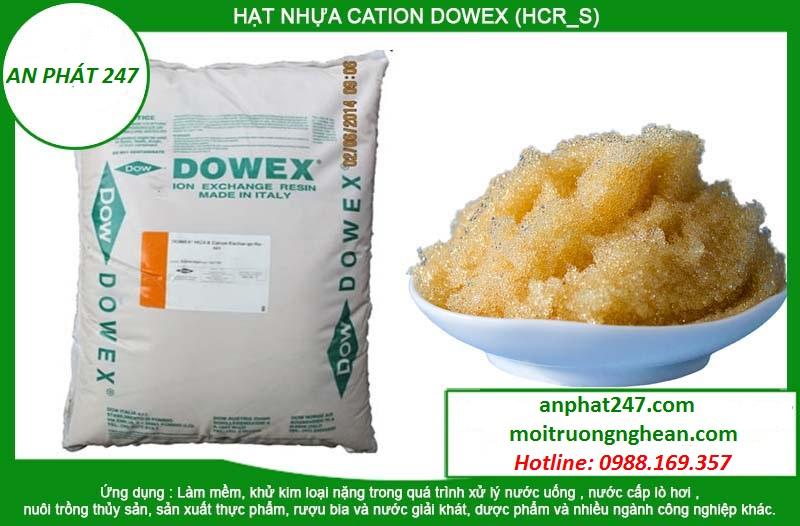 Hạt nhựa CATION DOWEX (HCR_S)