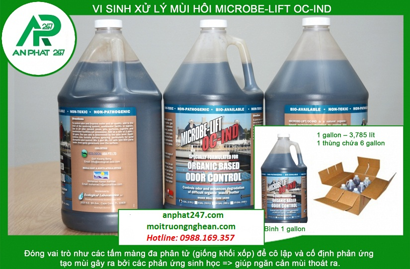 Men vi sinh xử lý mùi hôi MICROBE-LIFT OC-IND